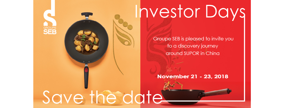 Investor Days at Supor in China - 21, 22 and 23 november