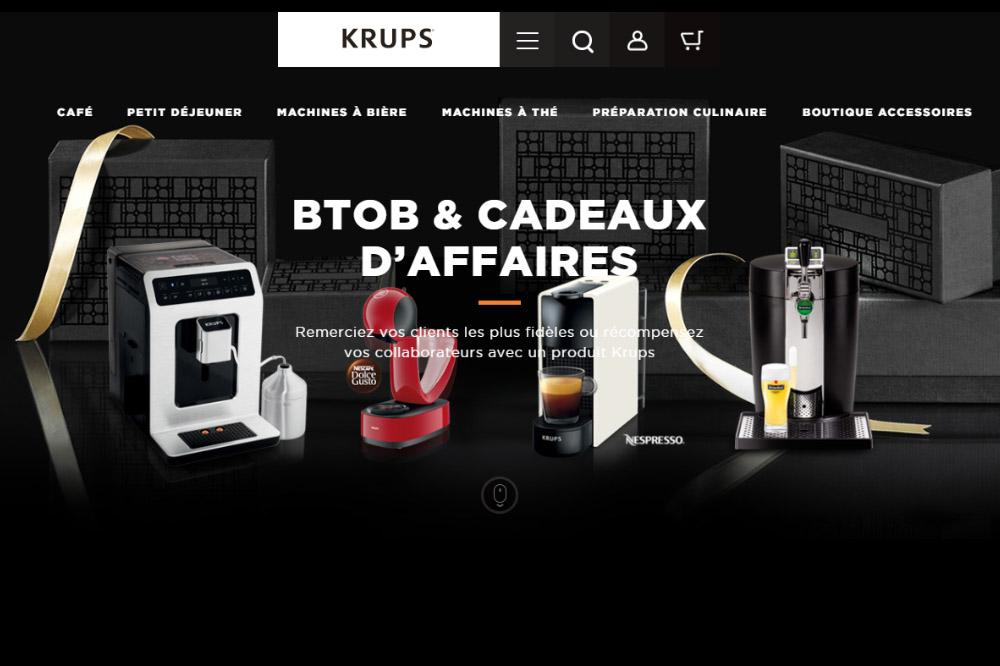 B to B Cadeaux d'affaires Krups