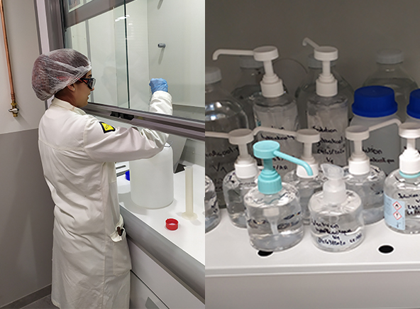 Rumilly en Haute-Savoie s'est ainsi lancée dans la fabrication de gel hydroalcoolique