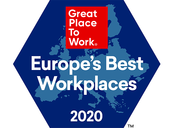 Logo Great Place to Work Europe's best workplaces 2020