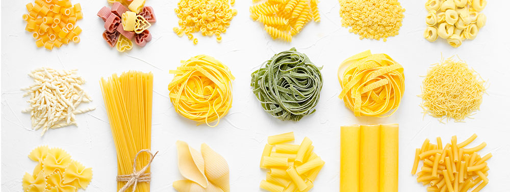 different sorts of pasta
