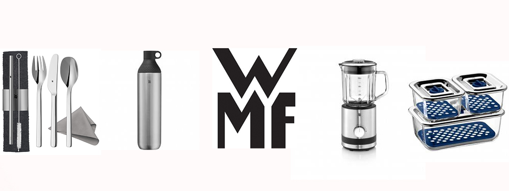 wmf products and logo at the center