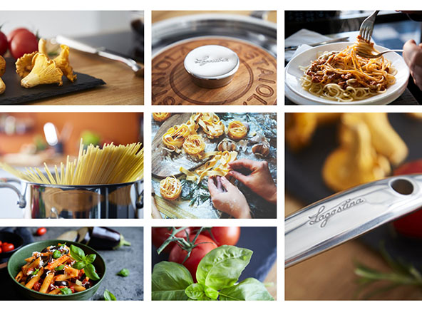 pictures of pastas and Lagostina products