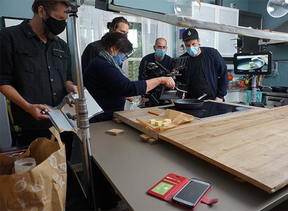 tournage dans la cuisine