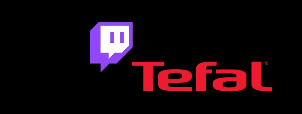 logos Twitch et Tefal