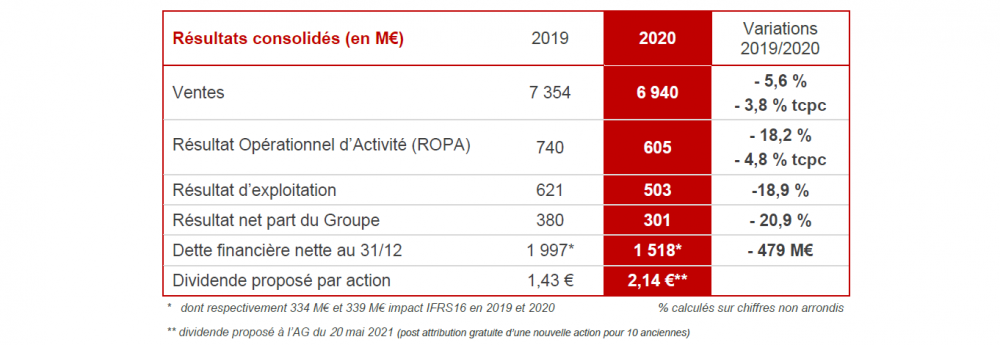 Groupe SEB Annual results 2020 figures